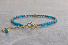 Load image into Gallery viewer, Turquoise_beaded_bracelet_coral