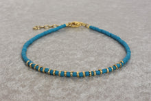 Load image into Gallery viewer, Turquoise_beaded_bracelet_for_women_gold