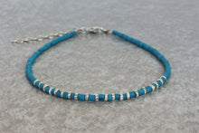 Load image into Gallery viewer, Turquoise beaded bracelet Indian-style