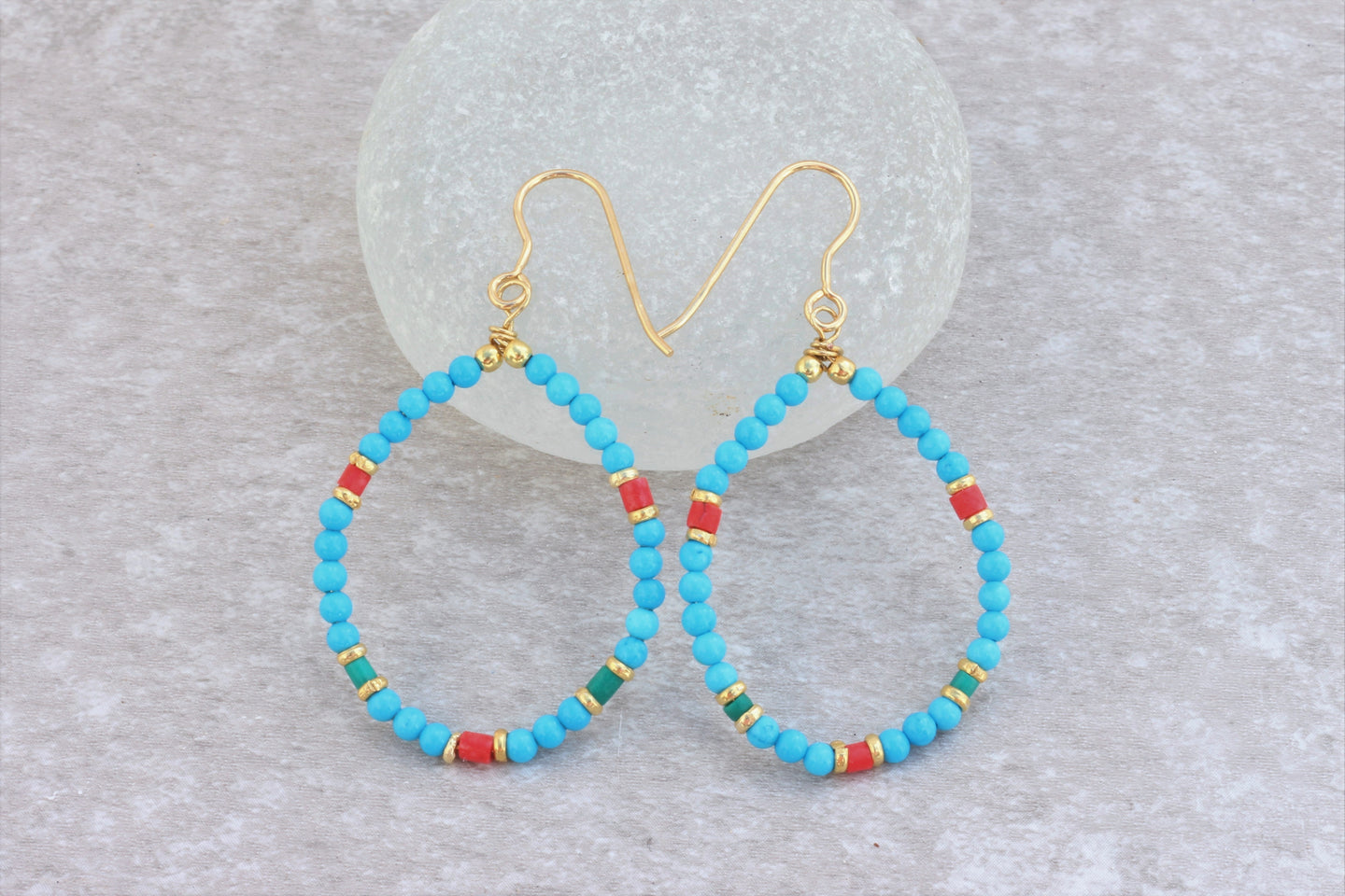 Turquoise_beaded_hoop_earrings
