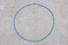 Load image into Gallery viewer, Turquoise_beaded_necklace_coral