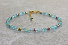Load image into Gallery viewer, Unique_Beaded_bracelet_for_women_aquamarine-red-gold
