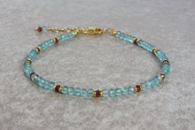 Load image into Gallery viewer, Unique_Beaded_bracelet_for_women_aquamarine_rhodolite