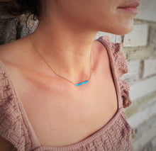 Load image into Gallery viewer, Turquoise_pendant_bar_necklace_for_women