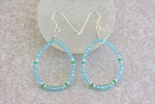 Load image into Gallery viewer, aquamarine_hoop_earrings_for_women_gift