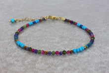 Load image into Gallery viewer, colorful_turquoise_beaded_bracelet_for_women