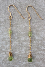 Load image into Gallery viewer, Long_line_peridot_drop_earrings_for_women