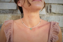 Load image into Gallery viewer, dainty_Beaded_pearl_necklace_for_her_green_onyx