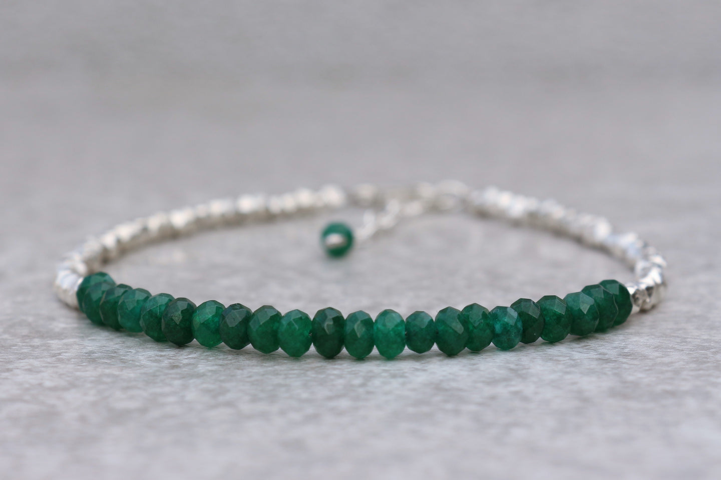 delicate_Green_onyx_beaded_bracelet_For_women