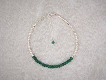 Load image into Gallery viewer, delicate_Green_onyx_beaded_bracelet_with_silver_karen_hill_tribe_beads