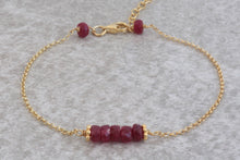 Load image into Gallery viewer, delicate_Ruby_pendant_bar_bracelet_for_women_gold