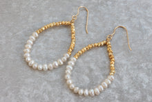 Load image into Gallery viewer, delicate_gold_pearl_hoop_earrings_for_her