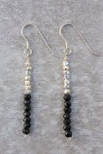 Load image into Gallery viewer, line_dangle_Earrings_black_spinel