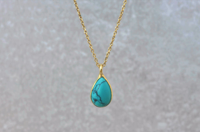 turquoise_drop_pendant_necklace_for_women