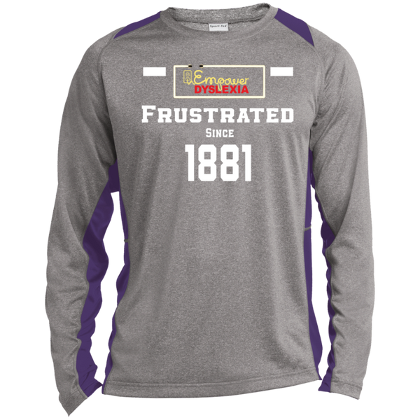 Frustrated Long Sleeve Heather Colorblock Poly T-Shirt