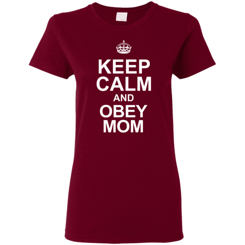 Keep Calm Obey Mom Ladies Shirt