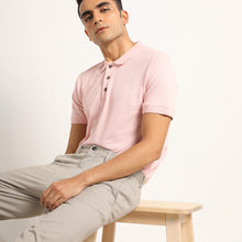 Load image into Gallery viewer, organic pink polo for men