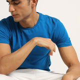 Blue mens tshirt