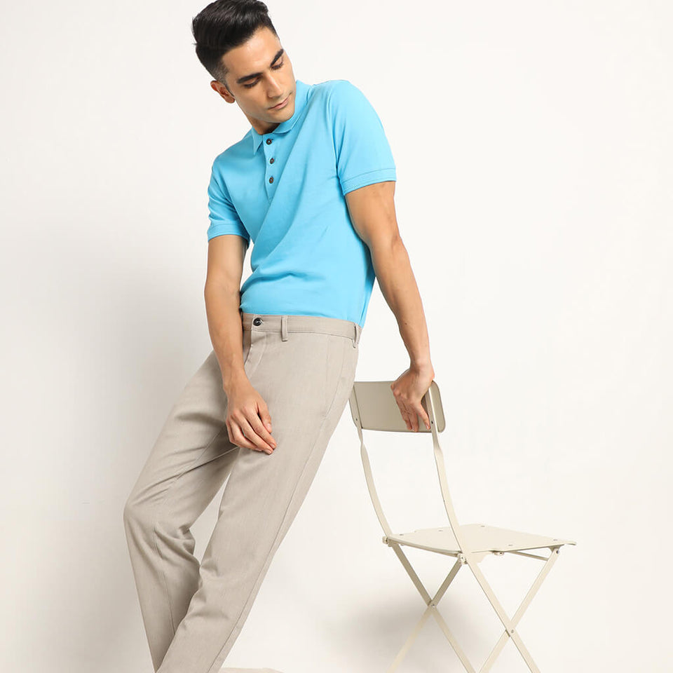 Load image into Gallery viewer, Turquoise polo mens tee