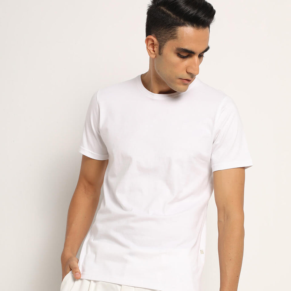 Load image into Gallery viewer, lagon white crew neck