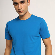 Load image into Gallery viewer, Round neck mens tee in blue