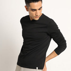 Black organic full sleeves