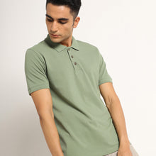 Load image into Gallery viewer, Green polo tshirts for men