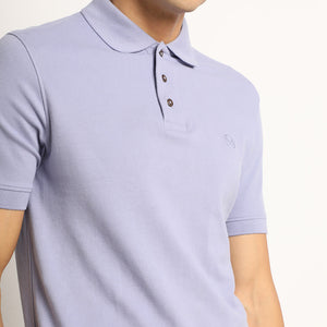Purple polo neck for men