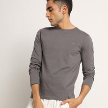 Load image into Gallery viewer, Mens organic crew neck full sleeve tee