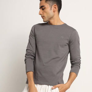 Mens organic crew neck full sleeve tee