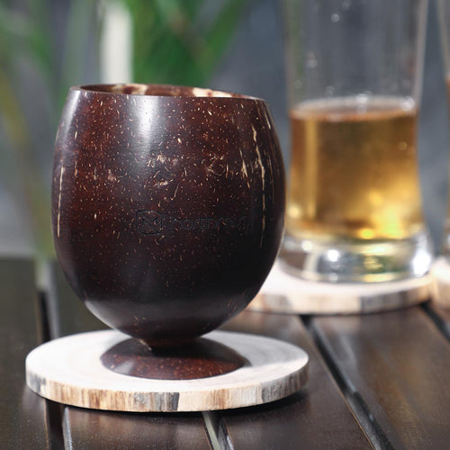 coconut shell glass juice glass eco friendly product
