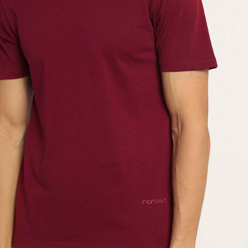 Load image into Gallery viewer, Meticulous Maroon organic t- shirt for men