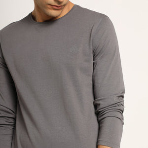 Grey organic mens tshirt