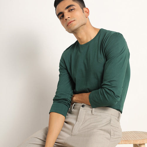 Gratify Green Organic Full Sleeve T-shirt