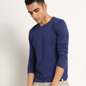 Mens full sleeve tshirts in navy
