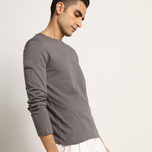Mens organic grey tshirt