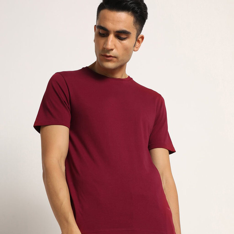 Load image into Gallery viewer, Majestic Combo Pack: Organic Crew Neck T-Shirts- Bare Black, Lagom White, Meticulous Maroon and Explorer Blue