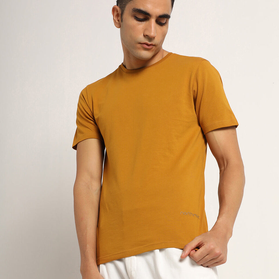 Load image into Gallery viewer, Mustard mens tshirt