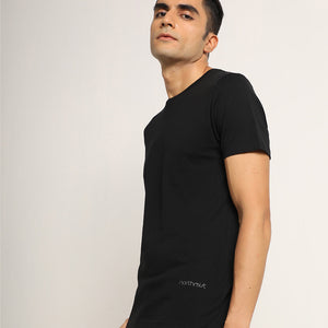 Black round neck tshirt for men