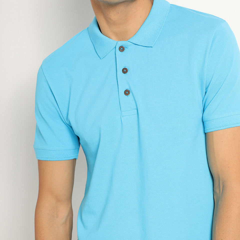 Load image into Gallery viewer, Turquoise polo neck