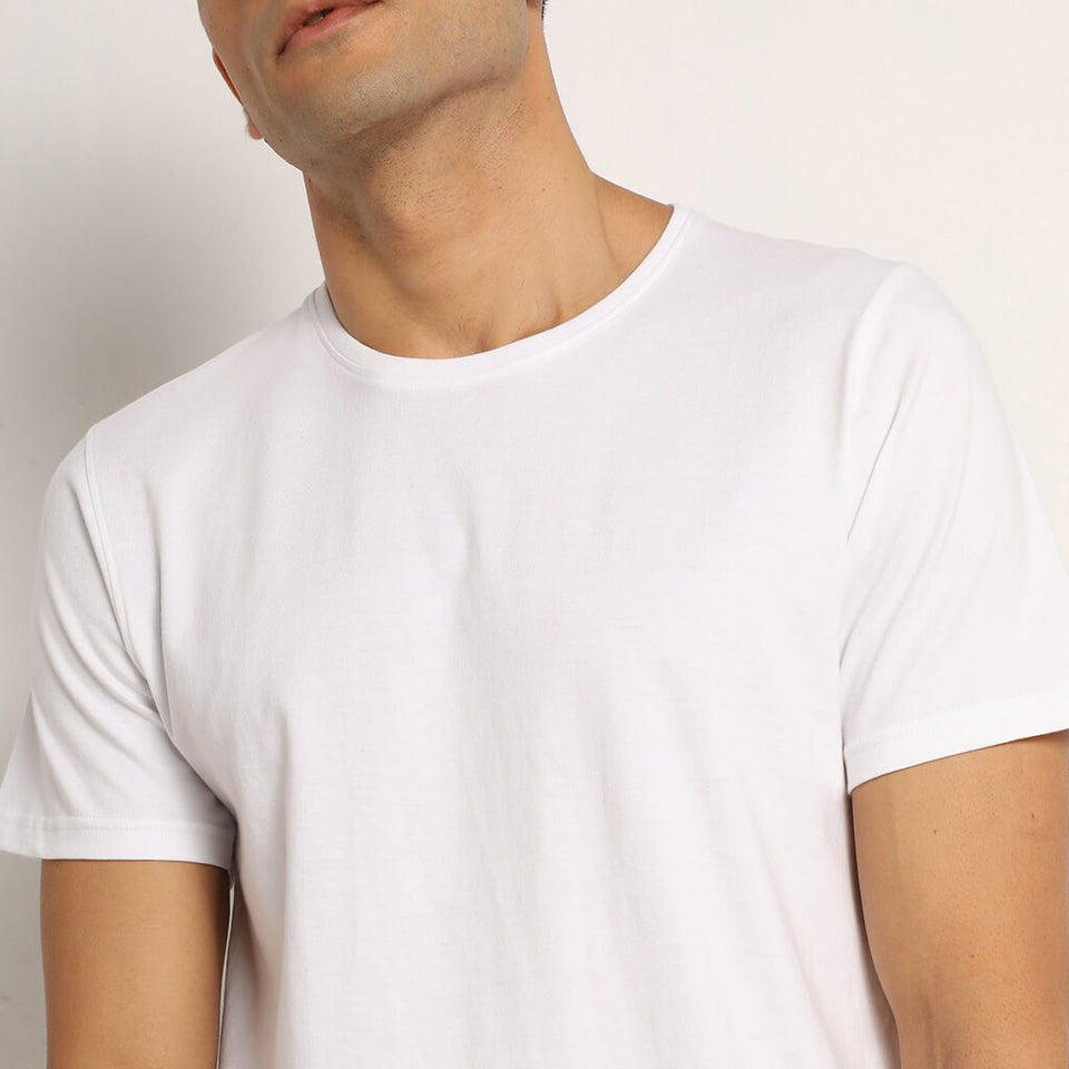 Load image into Gallery viewer, Lagom white organic crew neck t-shirt