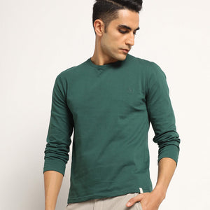 Mens green organic full sleeve