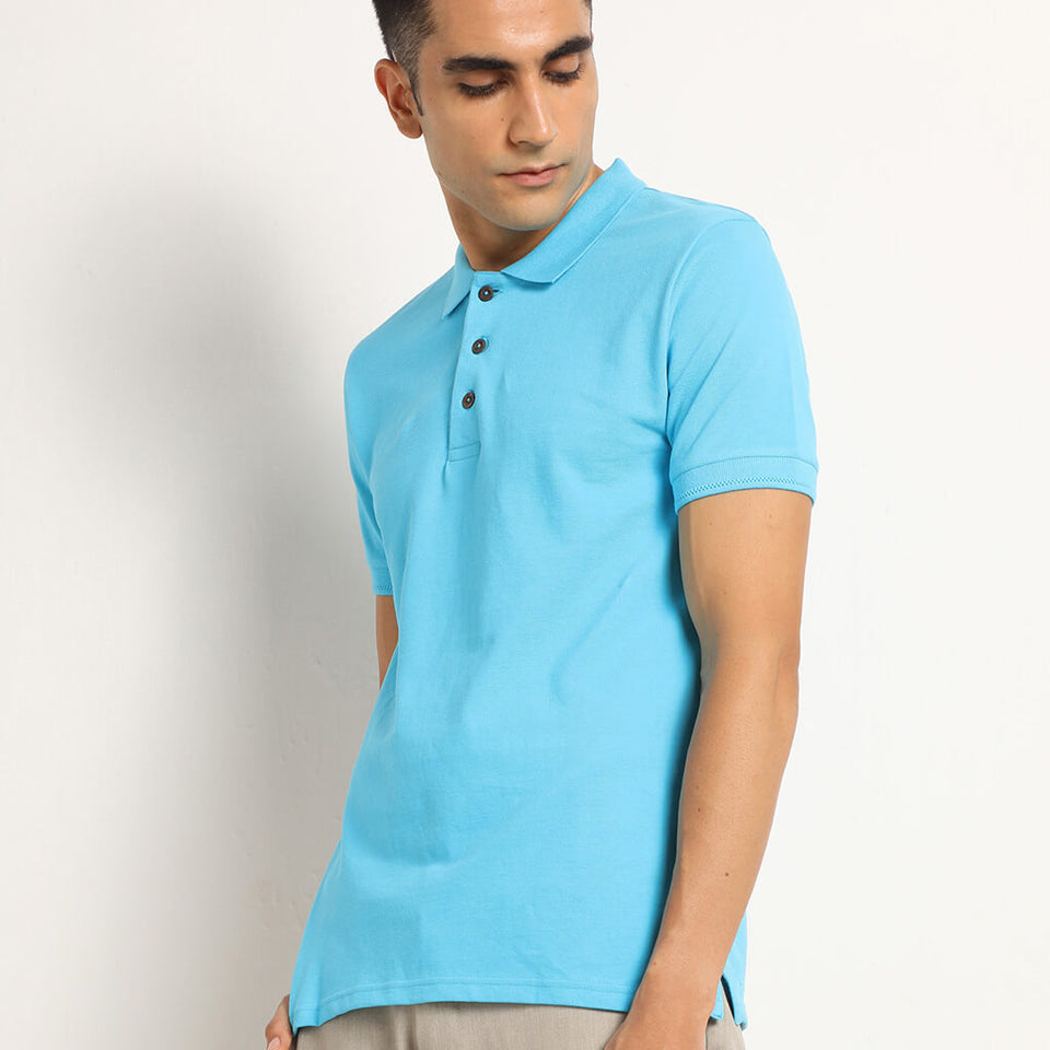 Load image into Gallery viewer, Organic mens polo tshirt