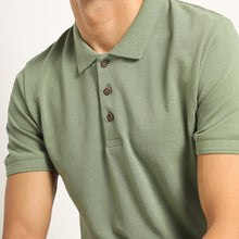 Load image into Gallery viewer, Organic polo in green for men