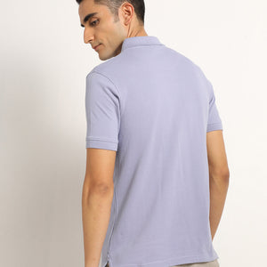Organic purple polo for men