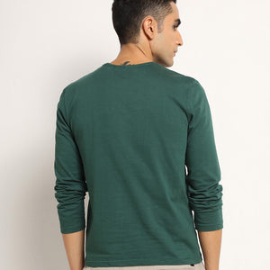 Mens full sleeves in green
