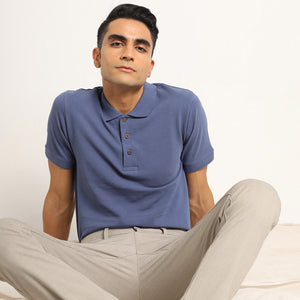 Organic men shirt in blue