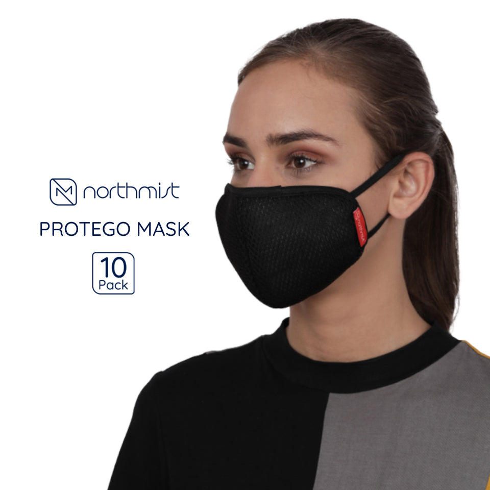 Load image into Gallery viewer, NorthMist Protego Face Cover- Pack of 10 (Unisex)