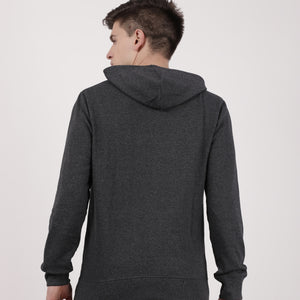 Charcoal Recycled Cotton Kangaroo Pocket Hoodie