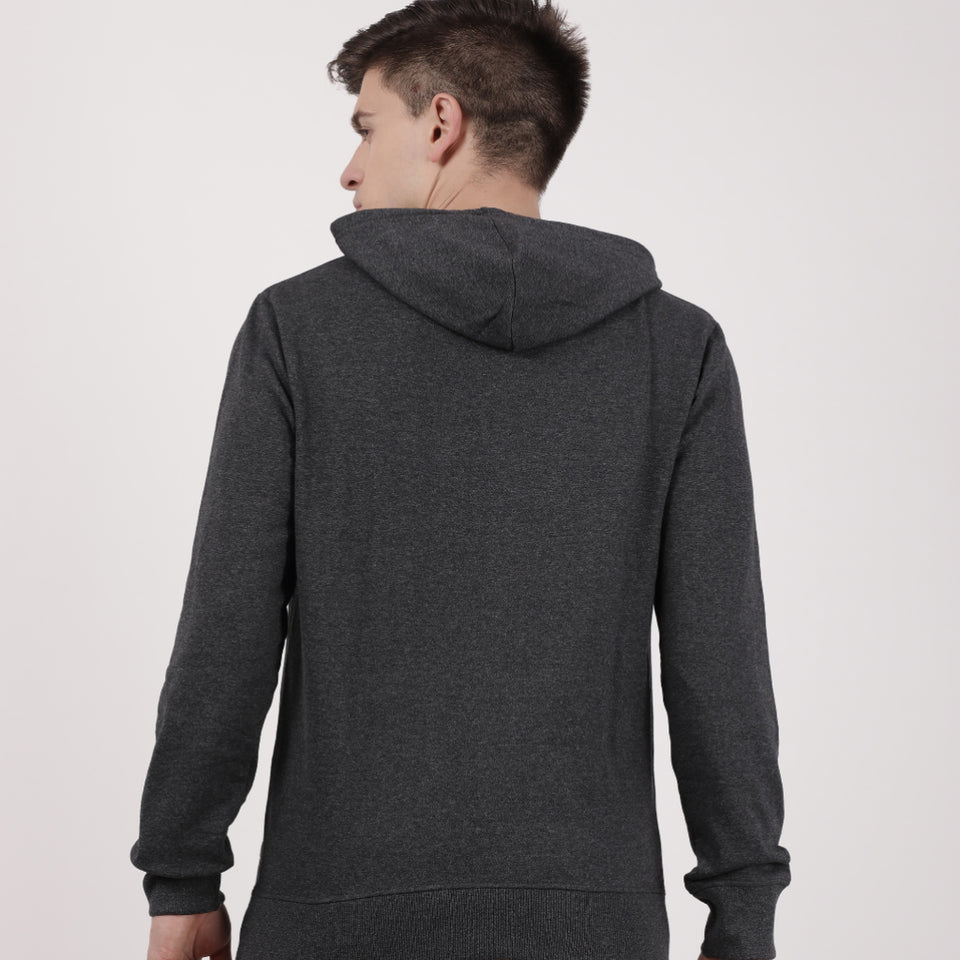 Load image into Gallery viewer, Charcoal Recycled Cotton Kangaroo Pocket Hoodie